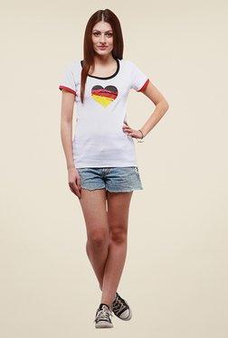 Yepme Sislei White Printed T Shirt