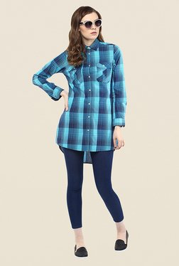 Yepme Lorina Blue Checks Shirt Top