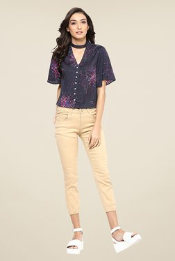 Yepme Eileene Black Printed Top