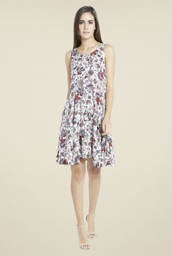 Globus Off White Floral Print Dress