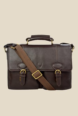 Hidesign Parker 02 Brown Leather Messenger Bag