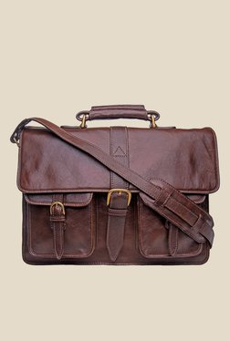 Hidesign Castello Brown Leather Messenger Bag