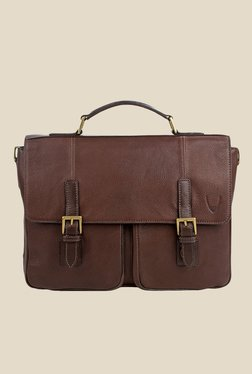 Hidesign Merlin 02 Brown Leather Messenger Bag