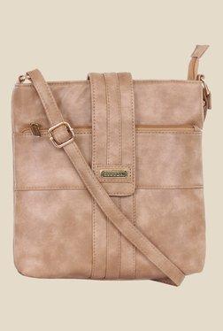 Esbeda Beige Synthetic Sling Bag