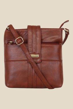 Esbeda Brown Synthetic Sling Bag