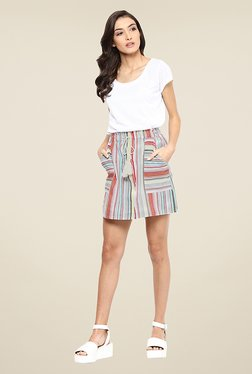 Yepme Baylee Multicolor Striped Skirt