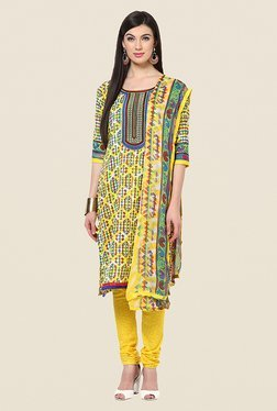 Yepme Hailly Yellow Printed Suit Set