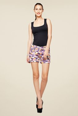 Yepme Karie Purple Printed Shorts