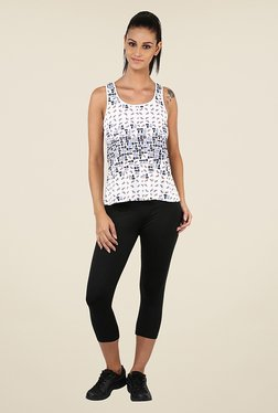 Yepme Birdie Scatter White Printed Tank Top