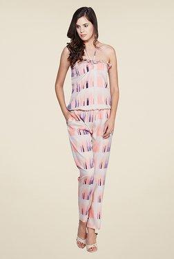 Yepme Elisha Pink & Beige Printed Jumpsuit