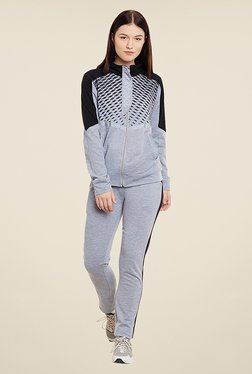 Yepme Andriee Grey & Black Printed Track Suit