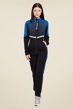 Yepme Andriee Black & Blue Printed Track Suit