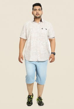 John Pride Light Blue Solid Shorts
