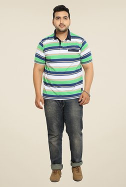 John Pride Multicolor Striped Polo T Shirt - Mp000000000731601