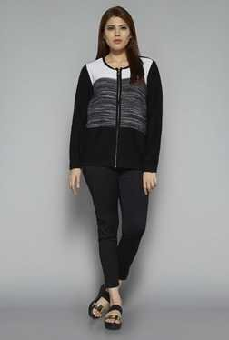 Gia by Westside Black Textured Knit Cardigan