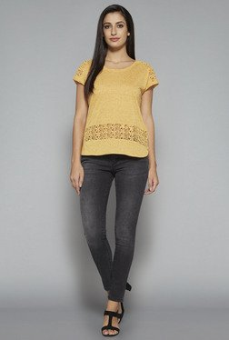 LOV by Westside Yellow Blair Top