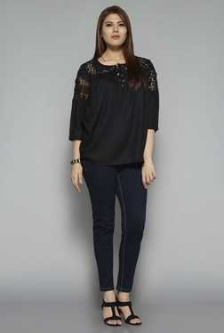 Gia by Westside Black Karen Blouse