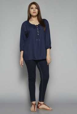 Gia by Westside Navy Casilda Blouse