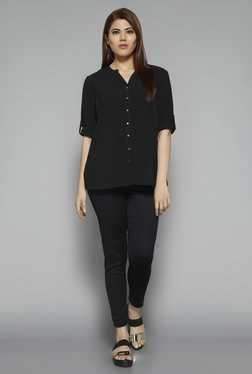 Gia by Westside Black Pixie Blouse