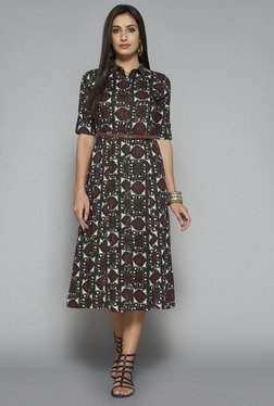 Bombay Paisley by Westside Black Printed Dress
