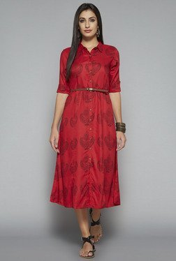 Bombay Paisley by Westside Red Printed Dress