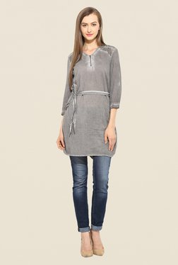 Free & Young Grey Textured Tunic