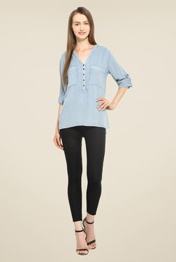 Free & Young Blue Solid Tunic