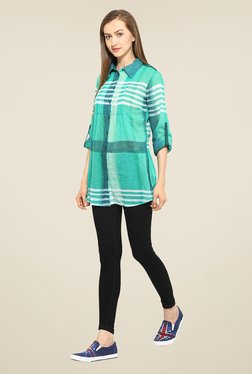 Free & Young Green Striped Tunic