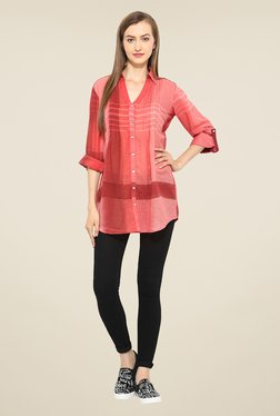 Free & Young Red Striped Tunic