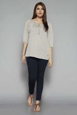 Gia by Westside Beige Ashly Top