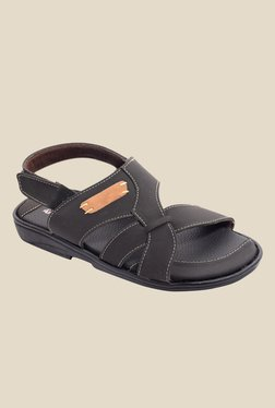 Amigos Black Back Strap Sandals