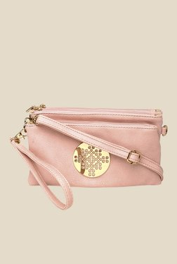 Addons Pink Logo Embossed Pouch