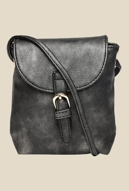 Addons Metallic Black Sling Bag