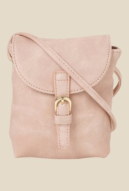 Addons Metallic Pink Sling Bag