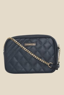 Addons Navy Quilted Sling Bag