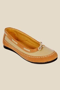 Bruno Manetti Beige & Tan Boat Shoes