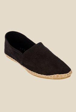 Bruno Manetti Black Espadrille Shoes