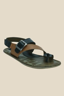 Kielz Black Back Strap Sandals