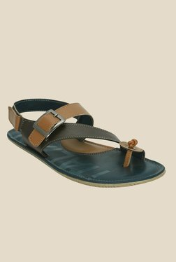 Kielz Tan Back Strap Sandals