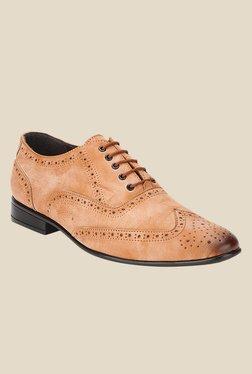 San Frissco Tan Brogue Shoes - Mp000000000737283