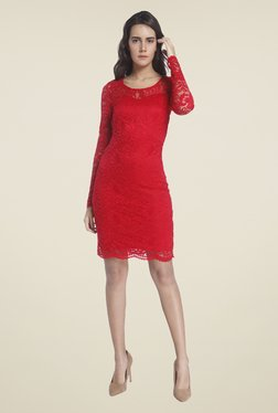Vero Moda Red Lace Dress