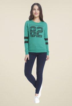 Vero Moda Teal Printed Sweatshirt