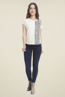 Vero Moda Off White Printed Top