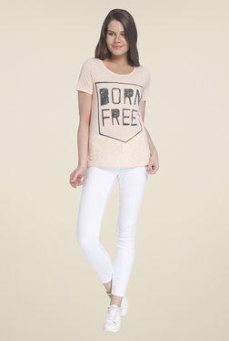 Vero Moda Peach Printed Top