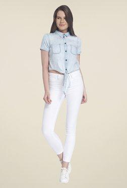 Vero Moda Blue Solid Shirt