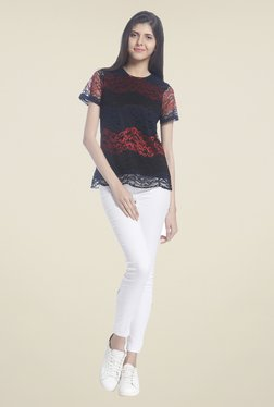 Vero Moda Black Lace Top