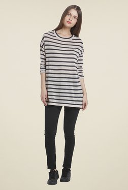 Vero Moda Grey Striped Top