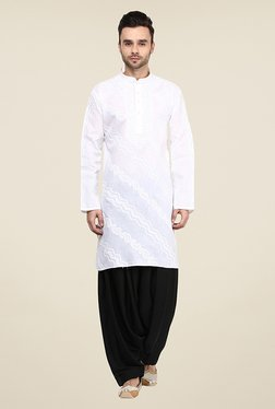Yepme Carsten White Embroidered Kurta
