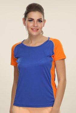 Clovia Blue Solid Sports T Shirt