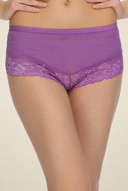Clovia Purple Lace Hipster Panty